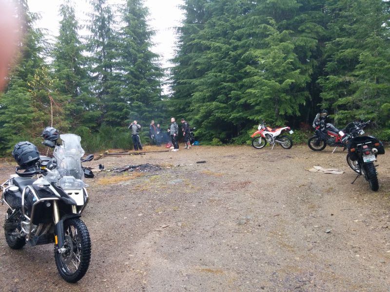 Lunch stop. Darren smoked/burned/cooked some smokies for the riders here. Thanks!